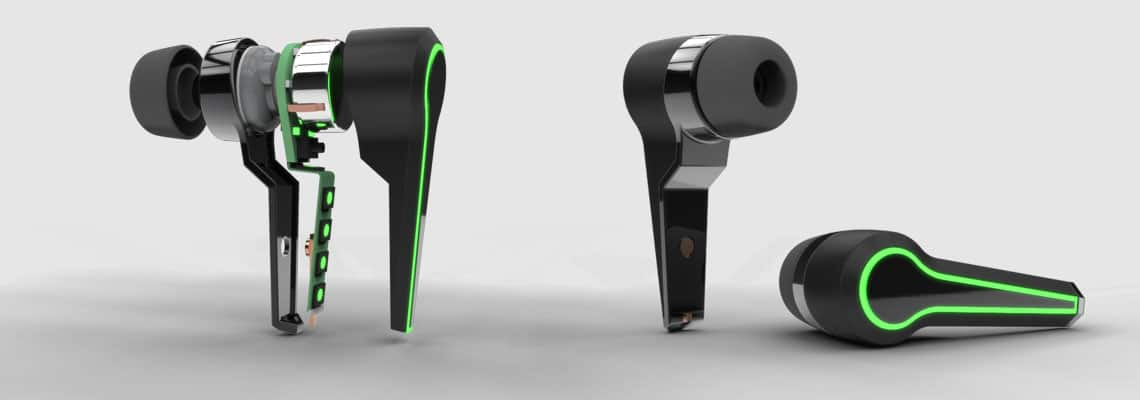 bluetooth earphones electronic product design