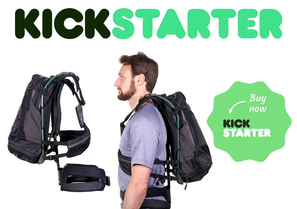 backpack product on kickstarter