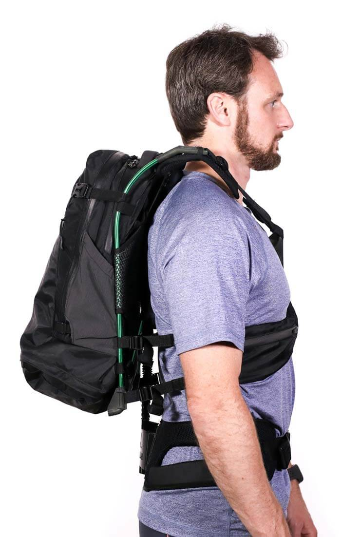 weightless backpack design motionlab