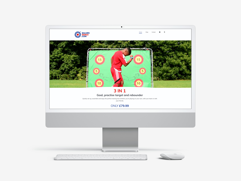 Ballers Goals website creation logo design
