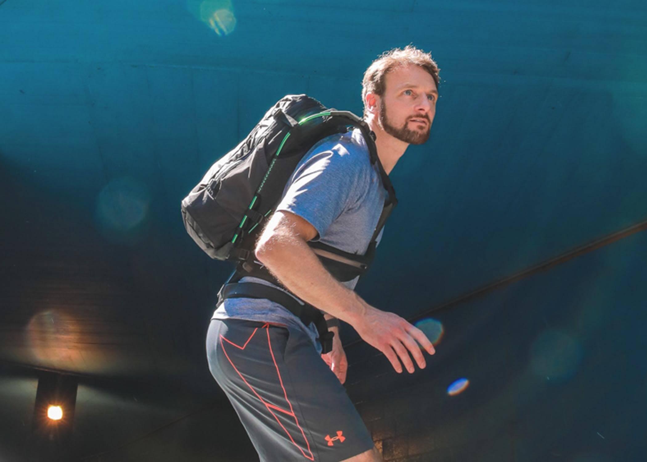 Motionlab active commute bag running rucksack innovation