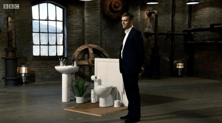 Tom Keen with invention on Dragons Den