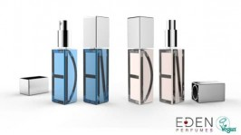 Eden purfumes bottle and brand graphics design